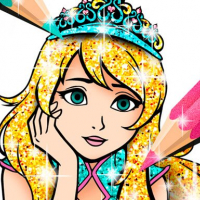 Princess Coloring Book Glitter Online