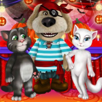 Talking Tom And Angela Halloween Party