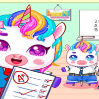 Mini Town: My Unicorn School Kids Games 2021