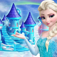 princess frozen doll house decoration